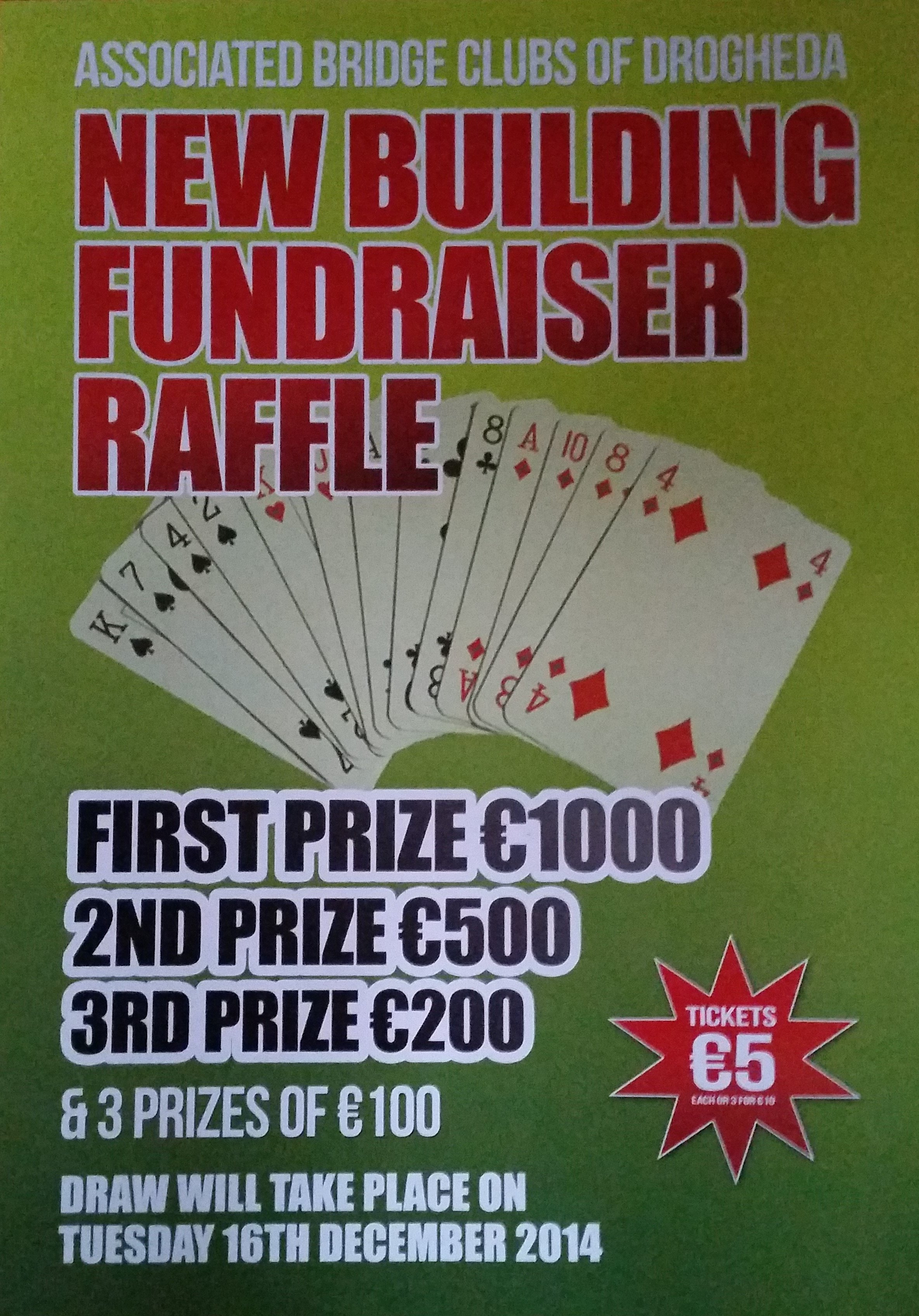 New Building Fundraiser Raffle