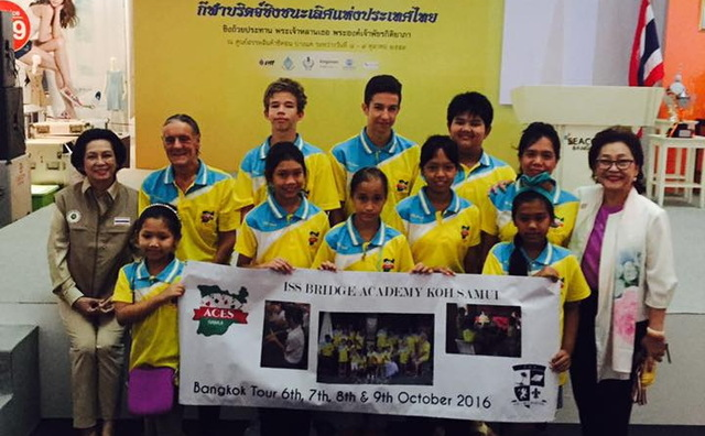 8 boys and girls flying the flag for SAMUI