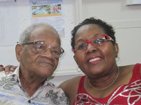 Leroy and his wife celebrating his birthday at BBL