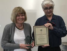 Diamond Award for Pat Davies ...