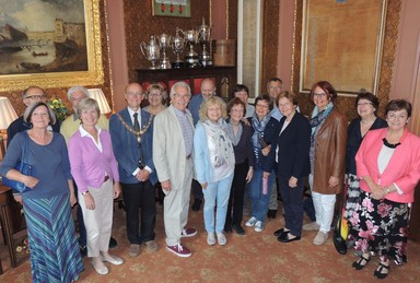 Brunswick visitors meet Mayor and Twinning Chairman