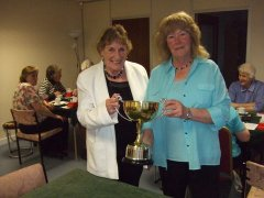 Evelyn and Cathy win the Bobby Crawford Trophy