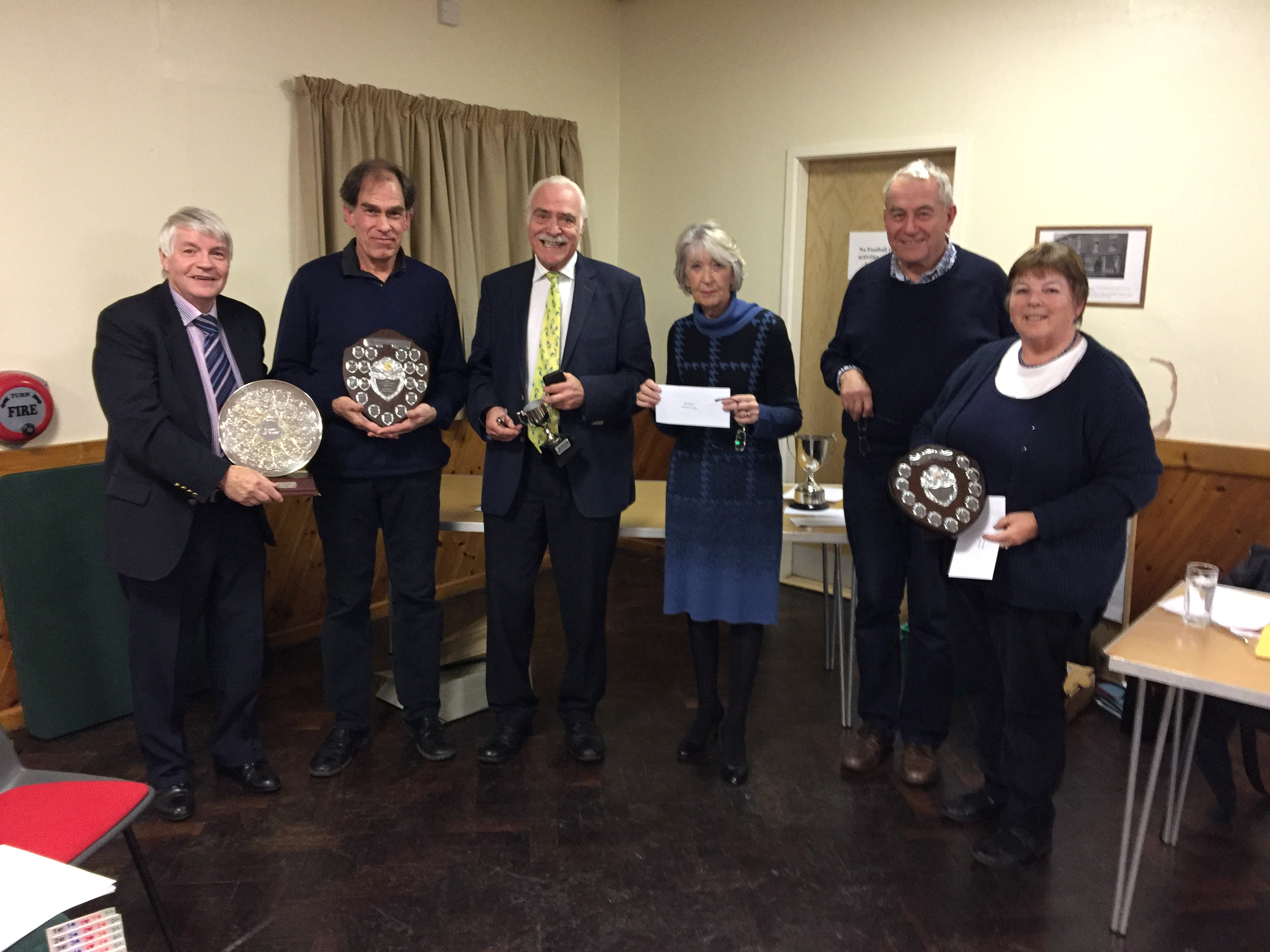 Prize Giving at the AGM November 2016