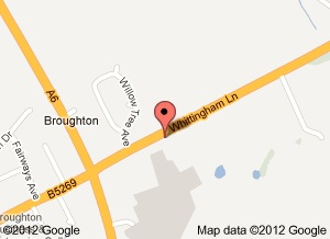 Map to Broughton Bridge Club