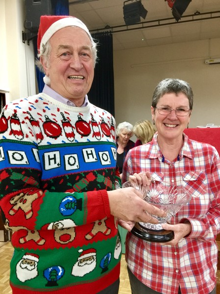 Crystal Trophy presented to Helen Hannay