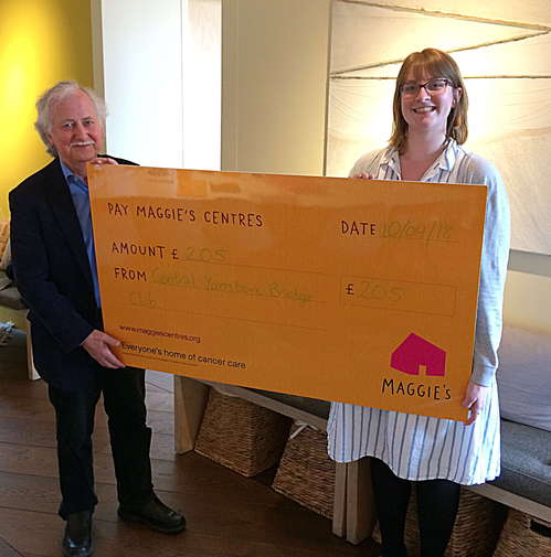 Central Yarnton Bridge Club Raises Money for Maggie's Cancer Charity