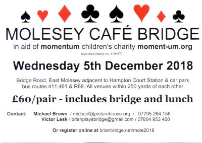 Molesey Cafe Bridge on 5th December
