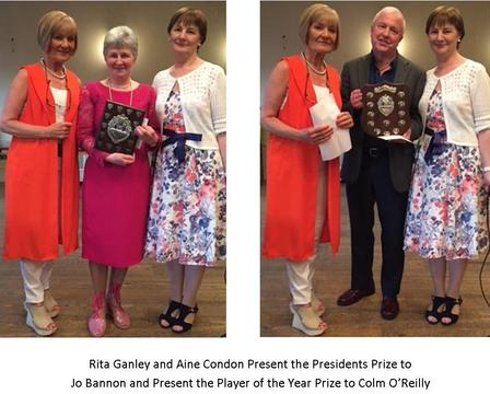 WINNERS OF THE PRESIDENTS PRIZE AND PLAYER OF THE YEAR
