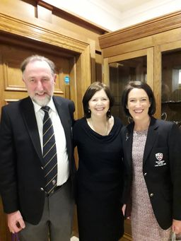Captain Ken and Lady Captain Sue being welcomed by President Clair last Friday - 26th Jan 2018