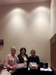 Deirdre Baneham and Theresa Murphy receiving 8th Prize