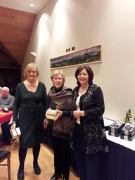 Pauline ONeill and Peg Rayel enjoying 7th Prize
