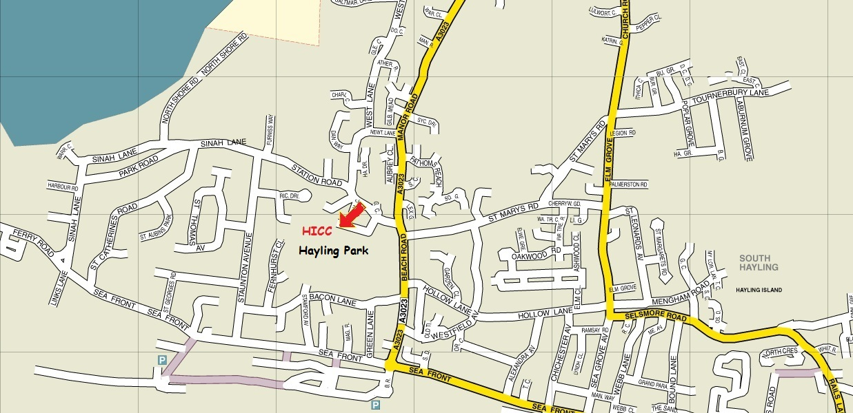 Position of Hayling Island Community Centre (HICC)