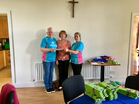 Cheque presented to The Balbriggan Support Group