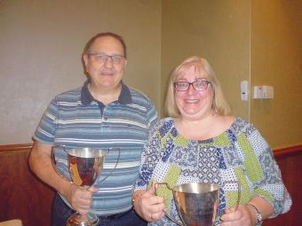 Swiss Pairs winners Ian and Julie Grant