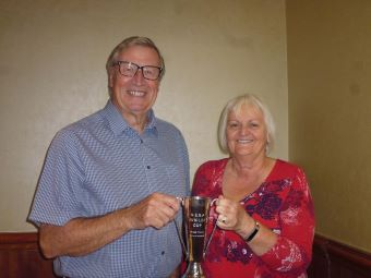 Congress Mixed Pairs winners Val Gibson and Malcolm Oliver