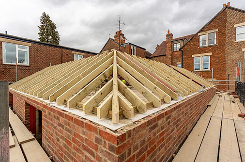 New roof timbers - September 18