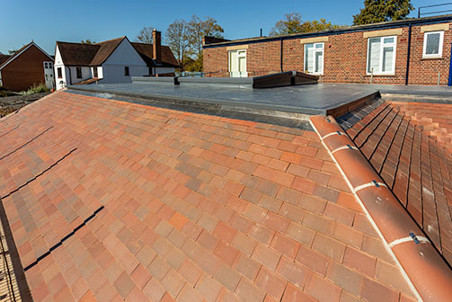Extension roof complete - October 10