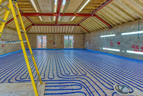 Playing area with underfloor heating - October 10