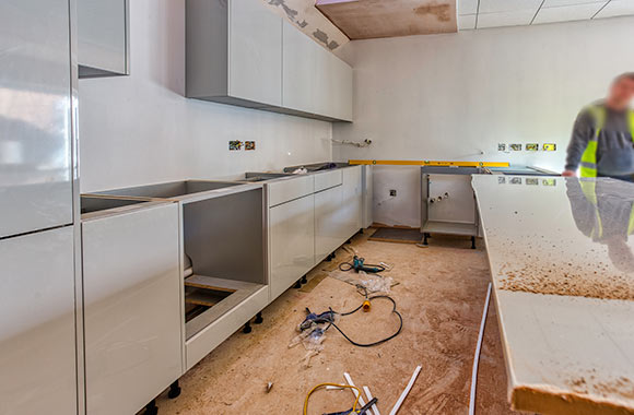Kitchen being built - November 14