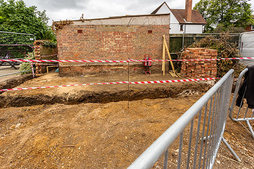 Trench for foundations - 19th June