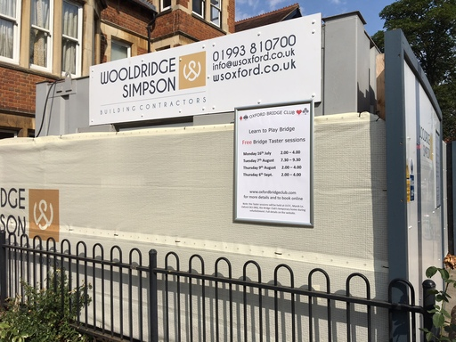 Promoting beginners events on the hoarding - 25th July
