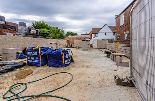 Extension walls now rising - 27 July