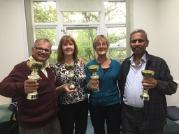 Middlesex Ladies Pairs and Gents Pairs 2018 Winners