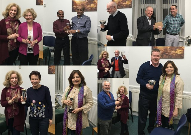 Photos from the April 2018 AGM Prize Presentations