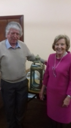 President Sheila Murray presents her Prize to Gerry Monaghan