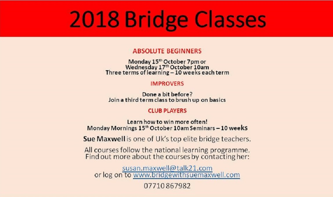 Know someone who would like to learn or improve their bridge?
