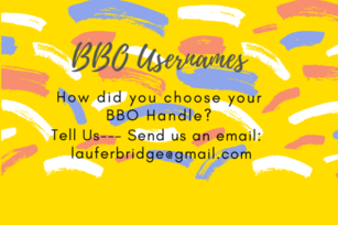 Tell Us How You Choose Your BBO Usernames!!!