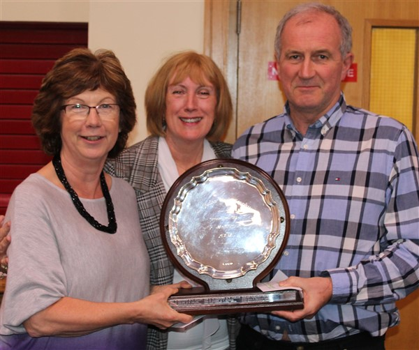 Winners of the Club Trophy ~ Bernie Spillane and Pat Godfrey