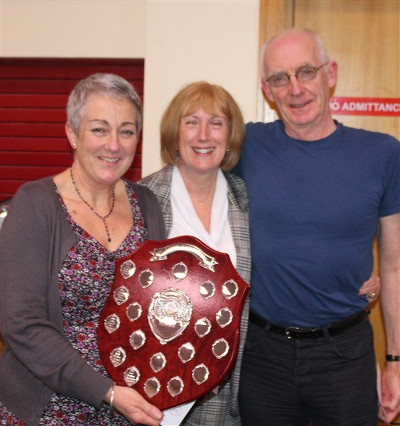 Winners of the St Jude\'s Trophy ~ Fran and Ephraim Purcell
