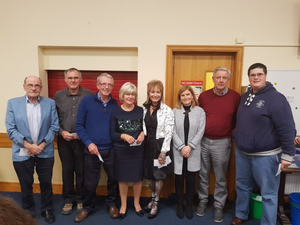 Middle Section.1st Kieran Hannon, Peter Branagan, Matt Kavanagh & Peter Searson. 2nd Bernadette McGillion, Pat McGillion, Martina Wheatley & Marian McGuinness. Logue
