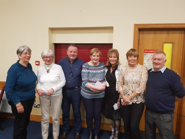 B/Novice Section 2nd.Martina Flannery, Barbara Byrne, Joan King & Nancy Meredith 3rd Marie Kennedy, Sean Fletcher, Tom Flood & Anna Murphy