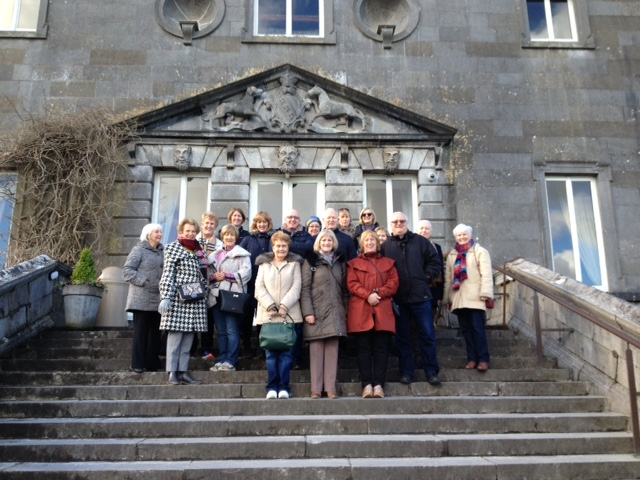 Our group on steps of Westport House