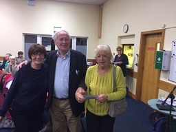 Joe Moran with Ann Hogan and Toni Pelosi