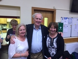 Joe Moran with Anne OConnell and Kathleen Vaughan