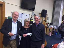 Joe Moran with Bernadette and Pat McGillion