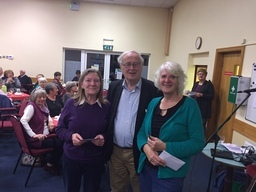 Joe Moran with Bridie Tarrant and Helen Doyle