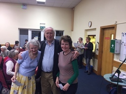 Joe Moran with Jennifer Cullen and Rita Callaly