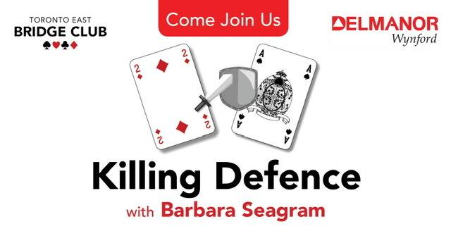 Killing Defence - Barbara Seagram Event Rescheduled Until October 17, 2020
