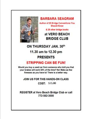 BARBARA SEAGRAM AT THE VBBC!