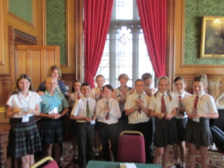 Warwickshire Juniors visit House of Lords