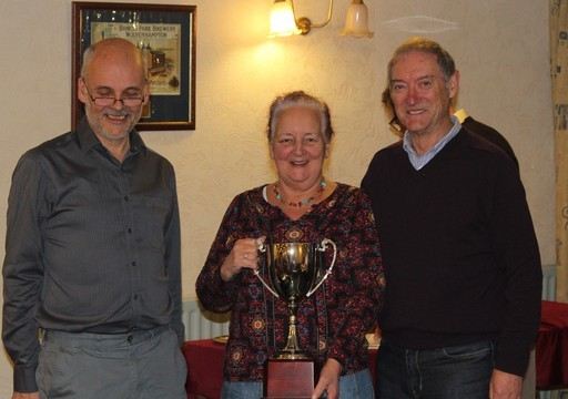 2019AGM07 Sue and Denn Won Xmas Teams But Not This Trophy