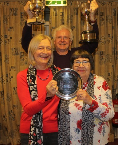 2019AGM09 Jane And Marian won the Ladies Pairs